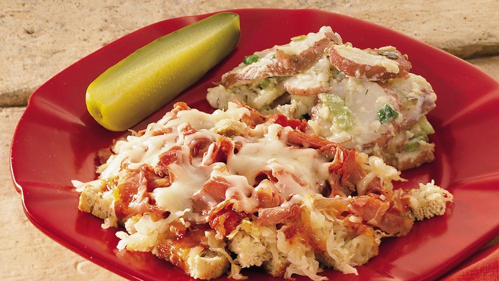 Open-Faced Reuben Casserole