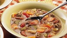 Italian Pasta, Beef and Bean Soup Recipe