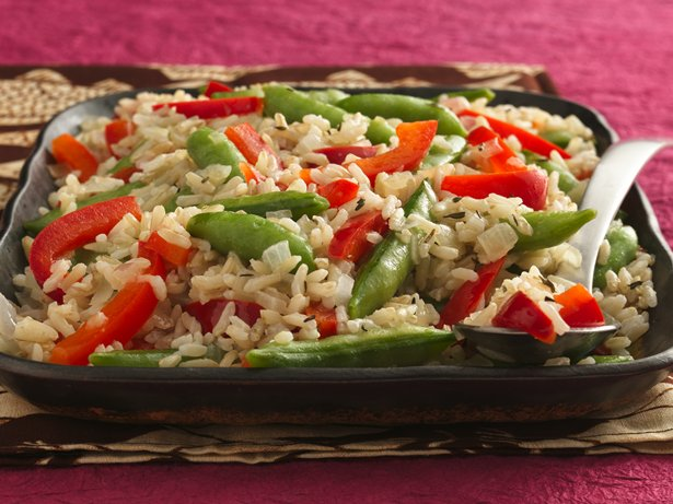 Sugar Snap Peas and Rice