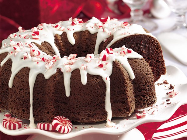 Fudgy Peppermint Truffle Chocolate Cake