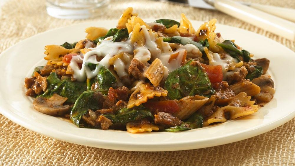 Vegetarian Italian Pasta Skillet Dinner