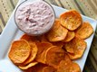Sweet Potato Chips with Cranberry Aoli