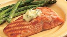 Grilled Salmon with Lemon-Dill Butter Recipe