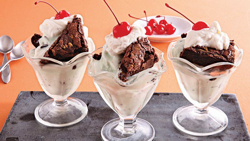 Mint Brownie Parfaits