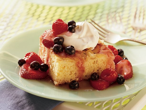 Image of Almond Shortcake With Triple-berry Sauce, Betty Crocker