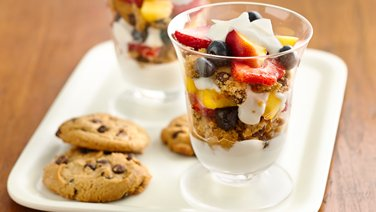 Gluten-Free Cookie, Greek Yogurt and Fruit Parfaits