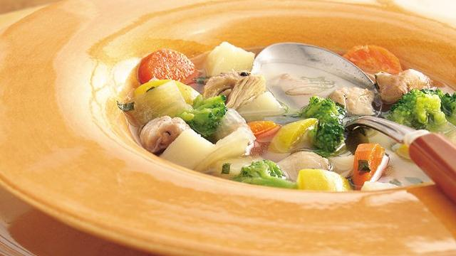 Slow Cooker Garden Harvest Chicken Soup