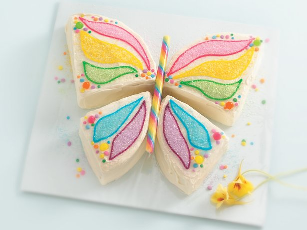 Butterfly cake recipe from betty crocker for Butterfly birthday cake template printable