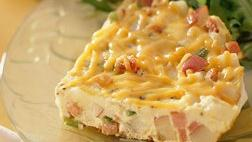 Gluten Free Hickory Ham and Potato Frittata