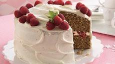Spice Cake with Raspberry Filling and Cream Cheese Frosting Recipe