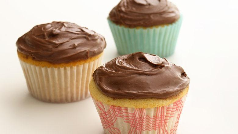 Healthified Chocolate Frosted Cupcakes
