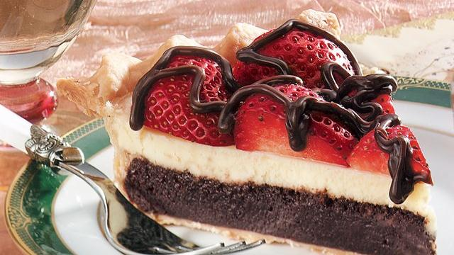 Strawberry Fudge Pie