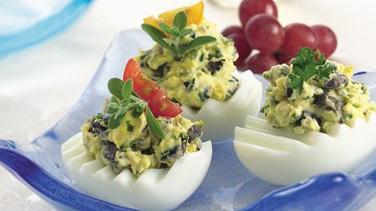 Olive and Herb Deviled Eggs