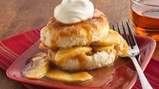 Caramel-Apple Shortcakes Recipe