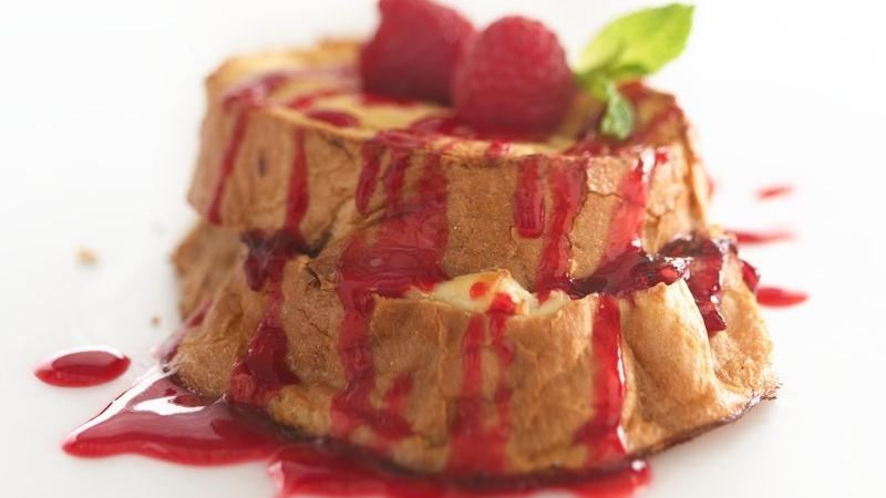 Healthified Raspberry French Toast Bake