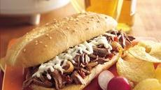 Slow Cooker Italian Shredded Beef Hoagies Recipe
