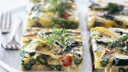 Healthified Asparagus-Zucchini Egg Bake