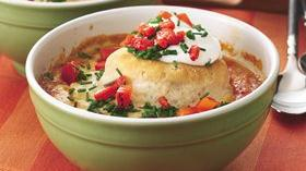 Southwestern Chicken-Biscuit Pot Pie Recipe