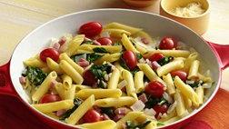 Penne with Spinach and Ham