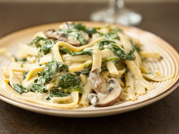 Mushroom Spinach Alfredo