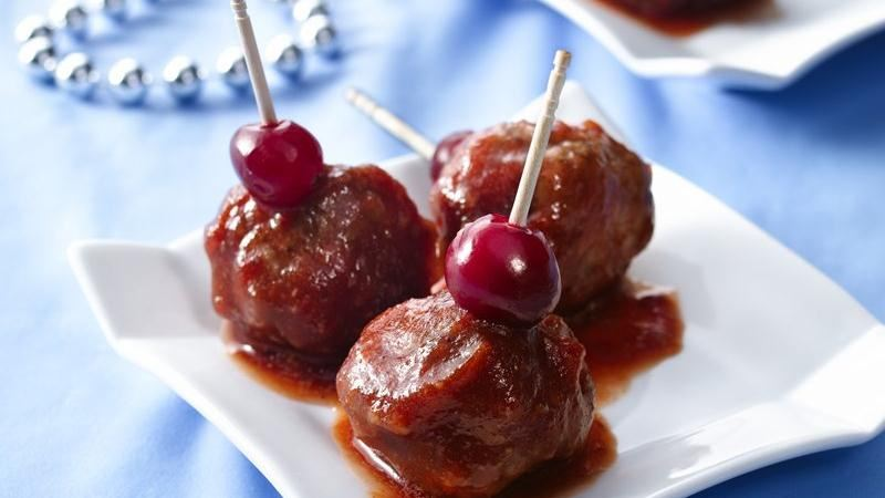 Cranberry-Glazed Appetizer Meatballs
