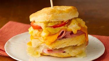 Triple-Layer Cheesy Ham and Cauliflower Sandwiches
