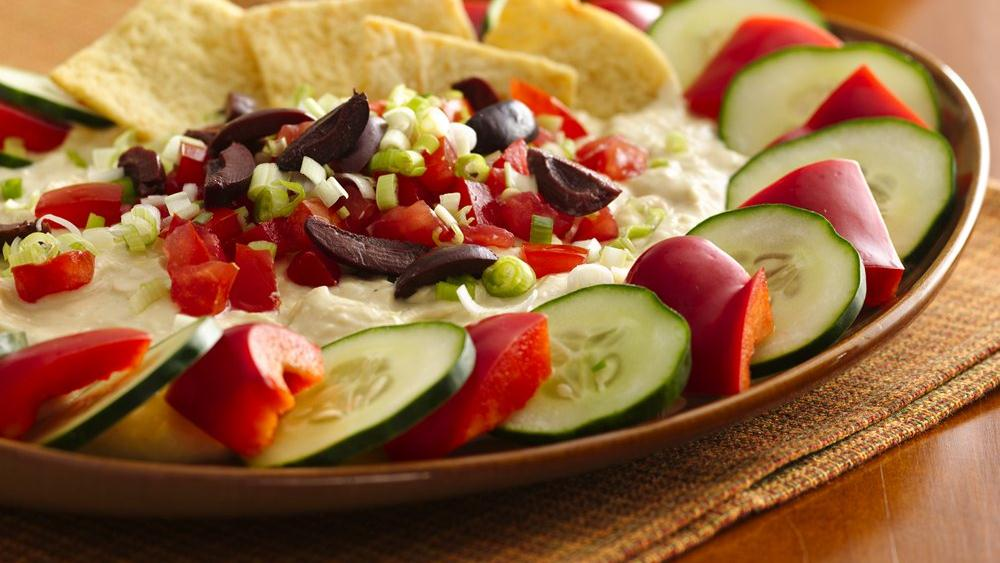 Greek Hummus Dip with Veggi