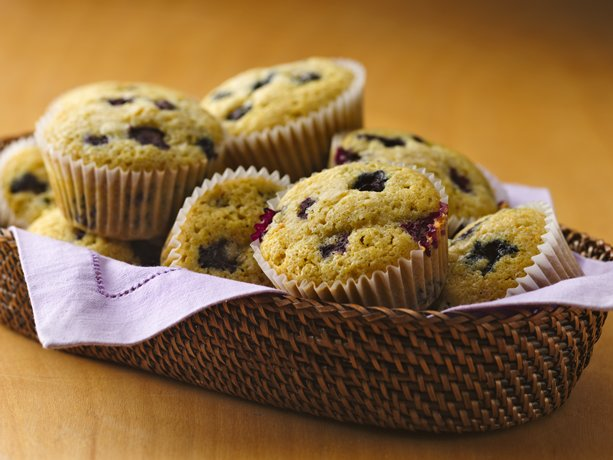 Gluten Free Blueberry Corn Muffins 