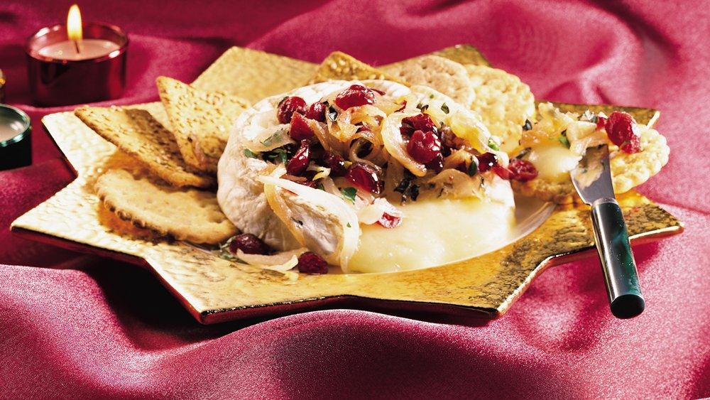 Camembert with Cranberry Caramelized Onion