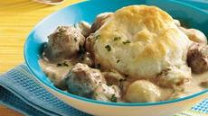 Meatball Stroganoff Biscuit Casserole (Cooking for Two) Recipe