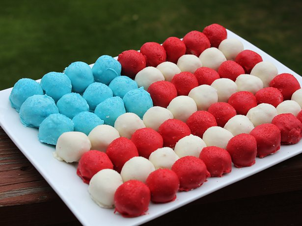 Cake Ball Flag Cake