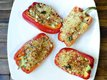 Spicy Baked Peppers with Quinoa and Corn