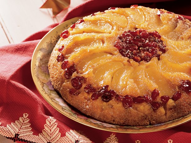 Image of Apple-cranberry Upside-down Cake, Betty Crocker