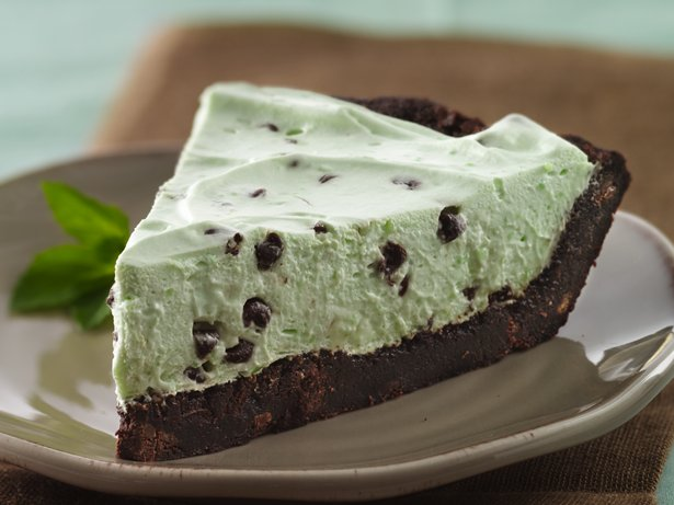 Gluten Free Crme de Menthe Brownie Pie