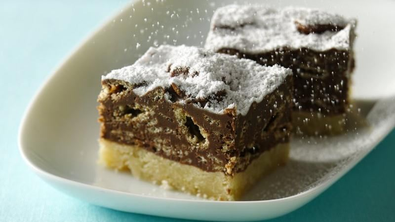 Snow Covered Crunch Bars