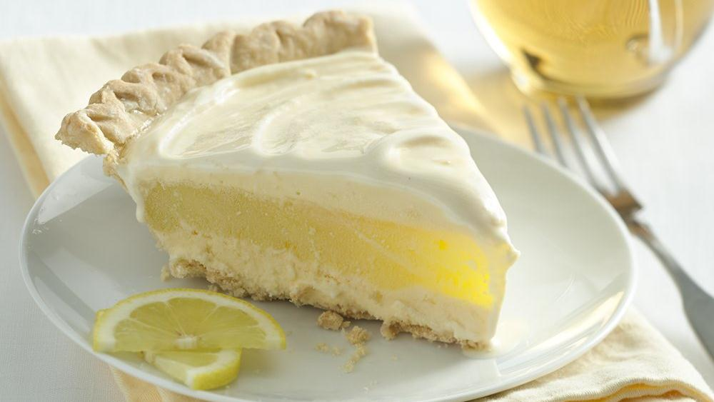Lemon Layer Ice Cream Pie recipe from Pillsbury.com