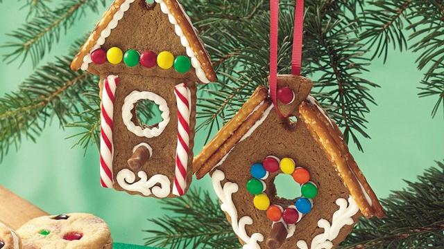 North Woods Birdhouse Cookies