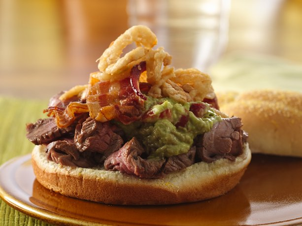 Hearty Bacon-Steak Sandwiches