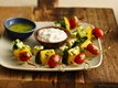 Fresh Vegetable Kabobs with Jalapeño Aioli