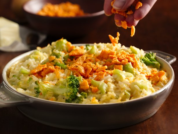 Creamy Cheese Broccoli Rice Bake