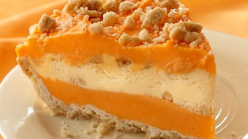 Creamy Orange Ice Cream Pie