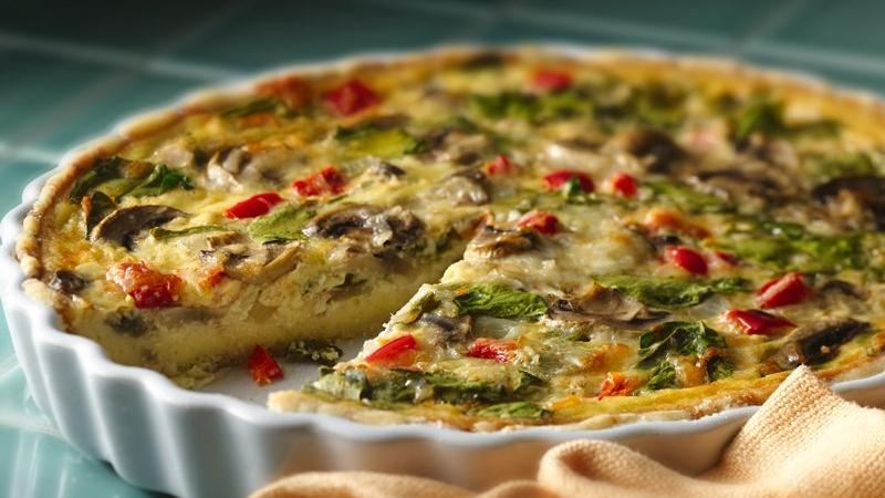 and spinach quiche cheesy spinach and mushroom mushroom spinach quiche ...