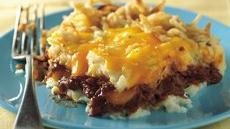 Barbeque Beef and Potato Bake Recipe