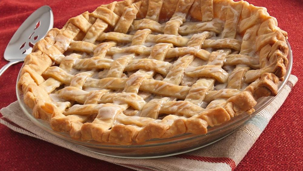 Brown Sugar-Cream-Apple Lattice Pie recipe from Pillsbury.com