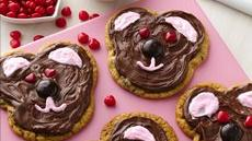 Valentine Teddy Bear Cookies Recipe