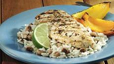Jerk Chicken with Black-Eyed Peas and Rice Recipe