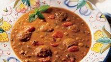 Italian Meatball and Lentil Soup Recipe