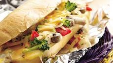 Hot Veggie and Cheese Hoagies Recipe