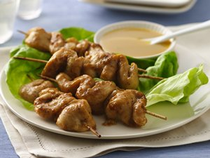 Gingery Chicken Kabobs with Honey Mustard Sauce