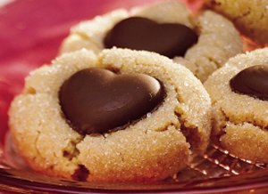 Chocolate&#32;Heart&#32;Peanut&#32;Butter&#32;Cookies